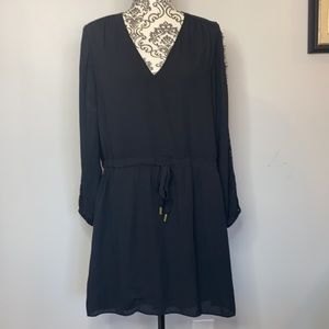 Banana Republic Mid Length Lace Sleeve Dress